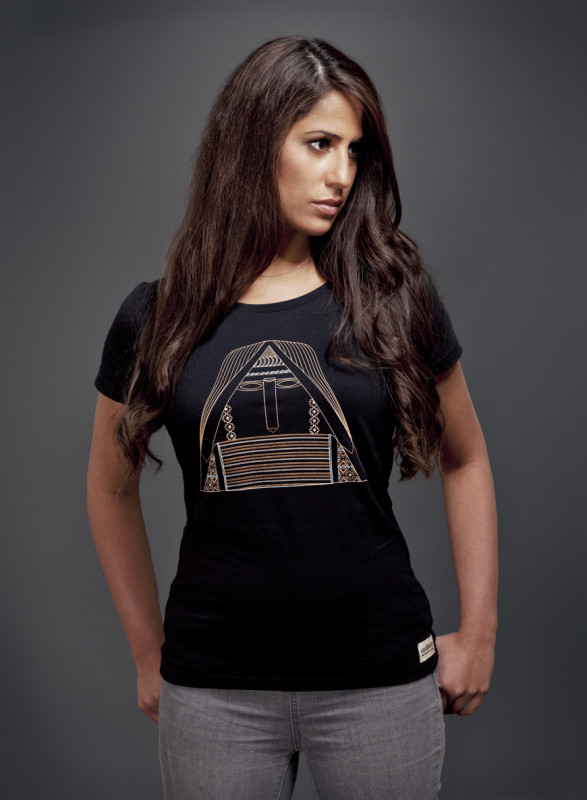 Tatik T-Shirt mit U-Ausschnitt