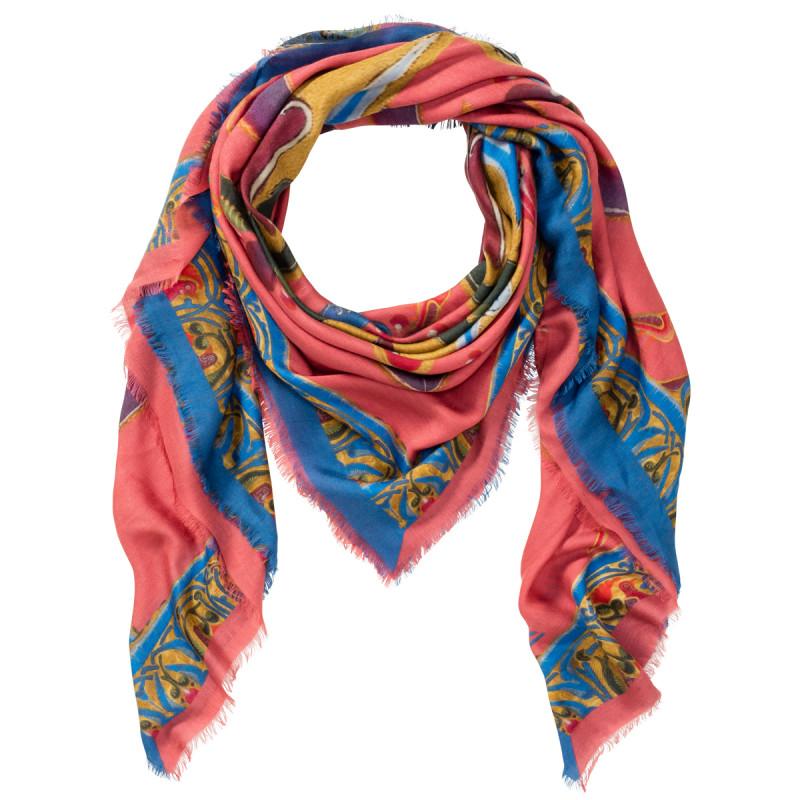 Modal-Kaschmir Schal mit floralem Druck